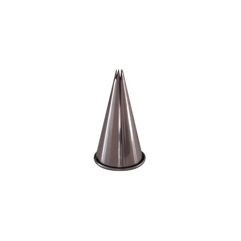 Douille cannelée inox C6, 6 dents, D7mm