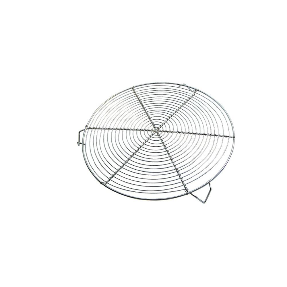 Grille ronde Nickelée à 3 pieds