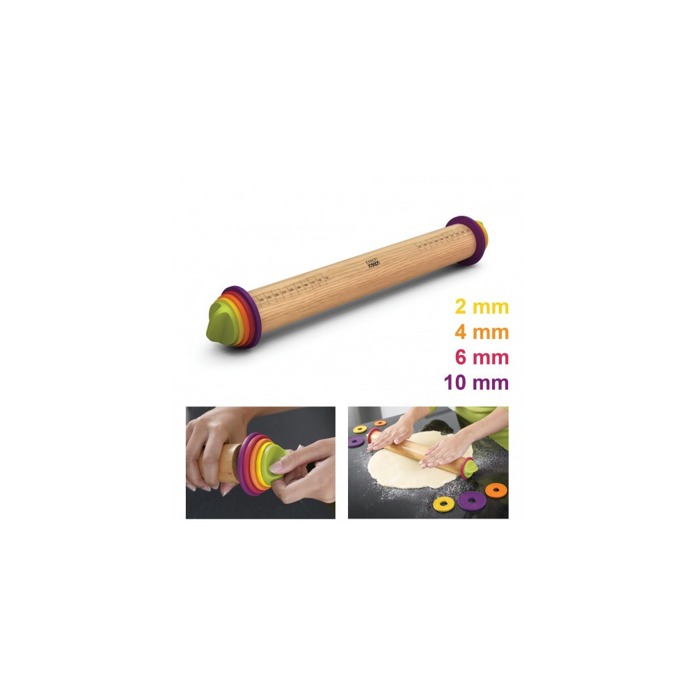JosephJoseph - Rouleau à pâtisserie ajustable multicolore