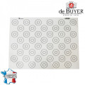 Tapis silicone macarons 40*30 - De Buyer