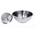 Bassine 1/2 sphère inox fond silicone diam 20 - De Buyer