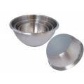 Bassine 1/2 sphère inox fond silicone diam 24 - De Buyer