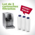 Kit de 3 cartouches filtrantes pour machine à café Delonghi