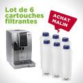 Kit de 6 cartouches filtrantes pour machine à café Delonghi