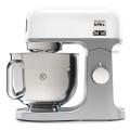 Robot kMix 1000W Bol inox 5L blanc + AT850
