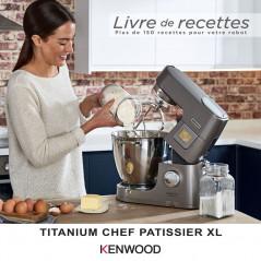 Robot Titanium Chef Pâtissier XL KWL90.009SI Chauffe Pèse 2bols 1400W